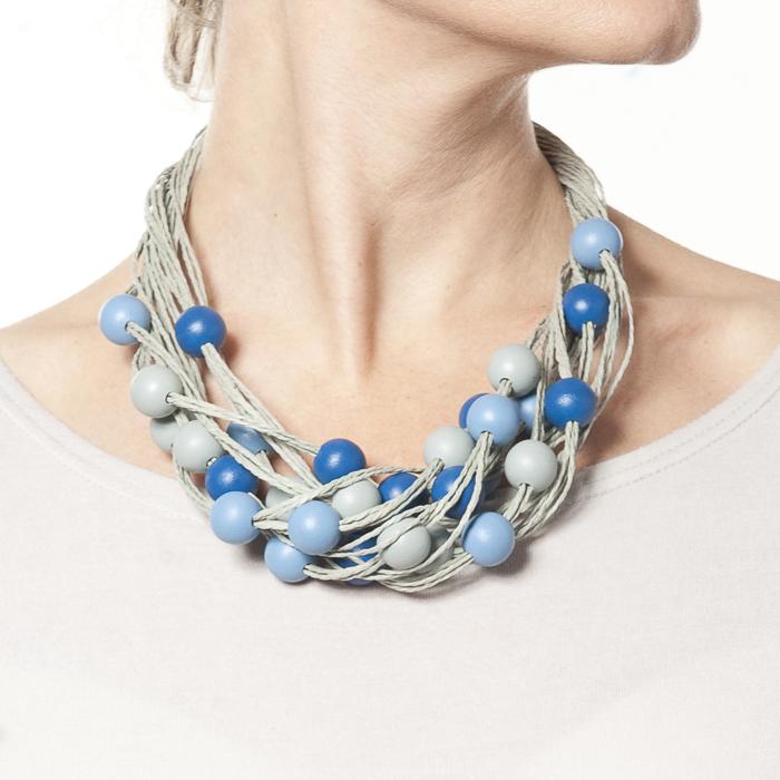 Korale - odcienie niebieskiego - arleta art